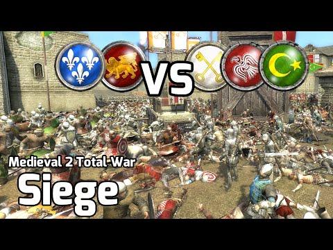 Medieval 2 Total War Online Battles #214 (2v3 Siege) - Cross & Crescent