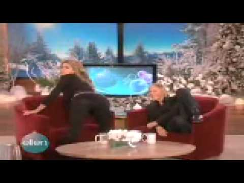 CARMEN ELECTRA AND ELLEN DANCE TO NAUGHTY GIRL!