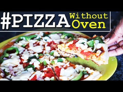 How To Make Veg Pizza At Home Without Oven || Homemade Pizza Recipe in Telugu || Recipe Mania