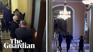 Trump impeachment new footage shows Mike Pence and Mitt Romney fleeing Capitol attack