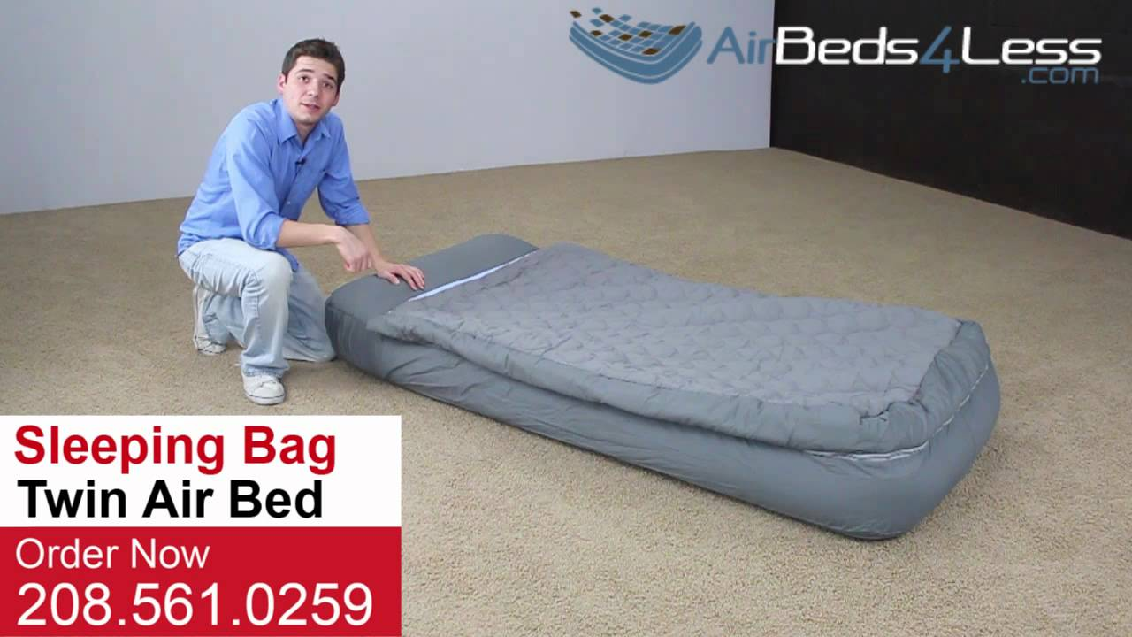 Intex Sleeping Bag Air Bed With Electric Pump Youtube
