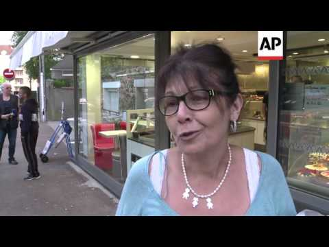 Morning scenes a day after a train derails killing at least six people near Paris, vox pops