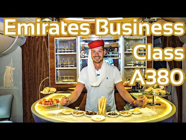 Emirates Business Class A380 Flug Erfahrung Report Bericht Airbus   GlobalTraveler.TV