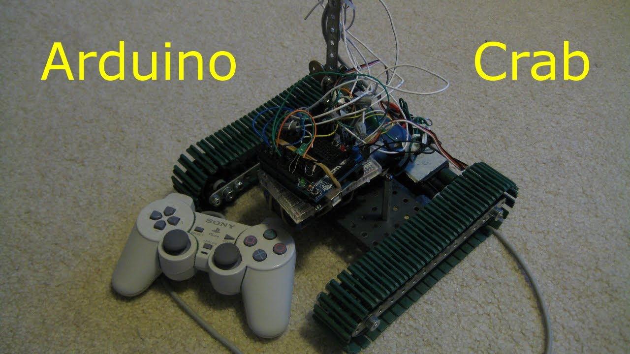 Arduino crab robot tracked youtube