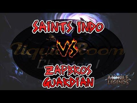 Saints Indo Vs Zapbros Guardian Liquid Room Tournament Mobile Legends