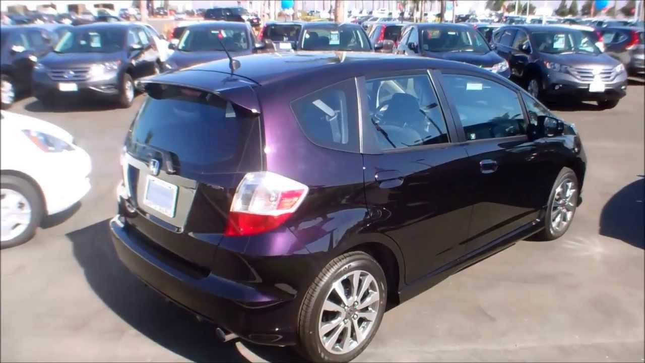 2013 Honda Fit Sport In Midnight Plum Purple Color Youtube