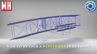 Keyshot 6 Tutorial : How to render a Wireframed model