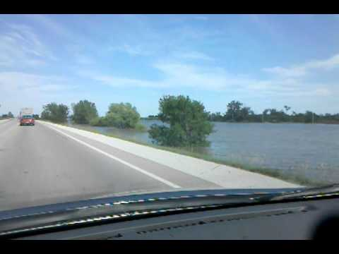 Crossing the Flooded Missouri River on Hwy 30