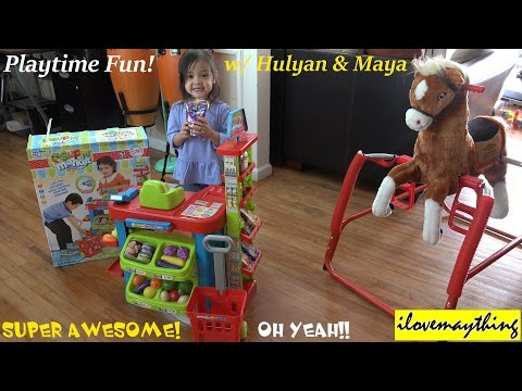Toys for Little Girls: Supermarket Shopping Toy Set Playtime with Maya :-)
