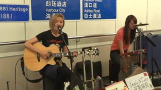 Counting Stars / Bad Romance / Tik Tok (Cover by Annie & Taco 安妮塔克) @尖沙咀站L5 Busking 2017.04.16