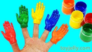Learn Colors for Kids Coloring Page Body Paint Hands Baby Finger Family Song Nursery Rhymes
