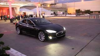 Video of the Tesla Model S driving. Silently.