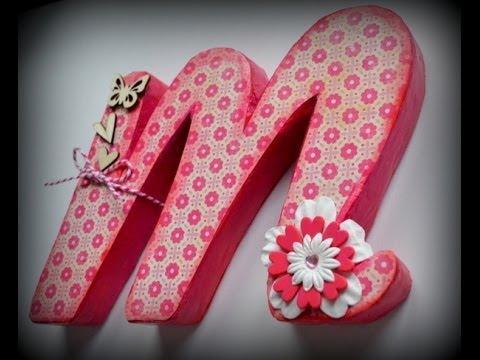 Letras decorativas de cart n youtube - Como hacer letras decorativas ...