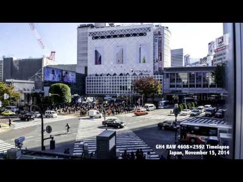 GH4 RAW 4608×2592, Shibuya Timelapse