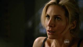 Elizabeth Mitchell in bra - V making out with Hobbes!