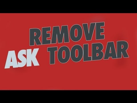 Remove Ask.com Toolbar