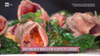 Bocconcini di manzo con scapece di verdure - E' sempre Mezzogiorno 13/01/2021