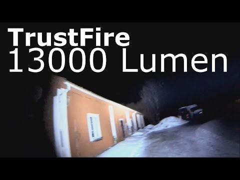 TrustFire 13000 Lumen flashlight review!