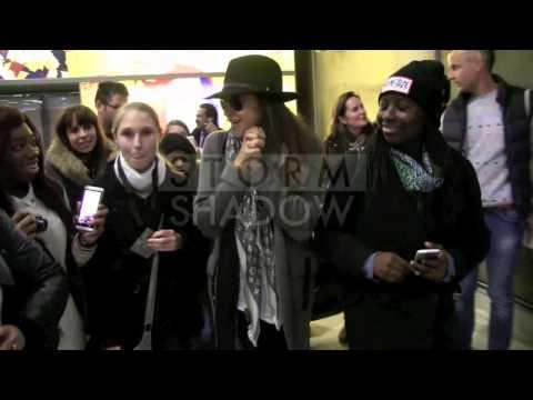 EXCLUSIVE: Shay Mitchell, Troian Bellisario, Tyler Blackburn at Paris airport