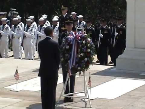 President Barack Obama at Arlington Cemetery on Memorial Day 2011