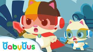 아기고양이 슈퍼영웅 변신~!|경찰놀이|소방관놀이|안전교육|생활습관|양치놀이|베이비버스 동요|BabyBus