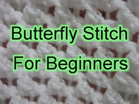 Butterfly Stitch Increase and Decrease - Slow Motion Crochet
