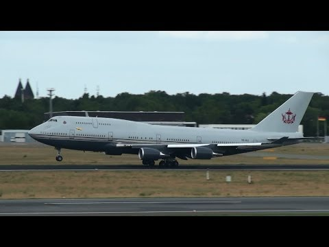 Sultan of Brunei Boeing 747 Takeoff at Berlin Tegel Airport HD (1080p)