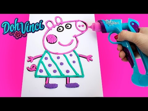 Make Peppa Pig w/ Play-Doh DohVinci Art Studio Design