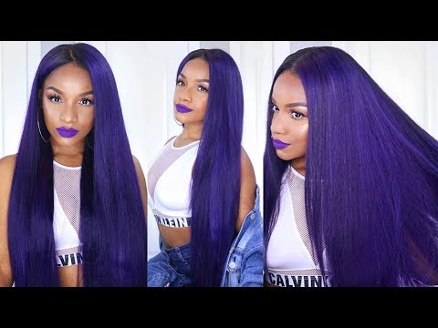 How to Color Your Hair Extensions Purple! | VERY DETAILED Step-by-Step ft. Ali Grace Hair