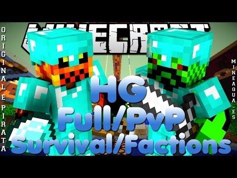 Divulgação de Server Minecraft 1.7.8/1.7.9 Survival/Factions, HG e PvP [Origin