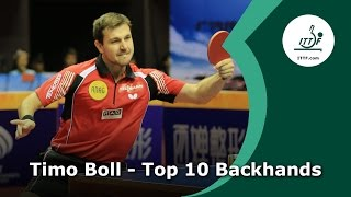 Top 10 - Timo Boll Backhands