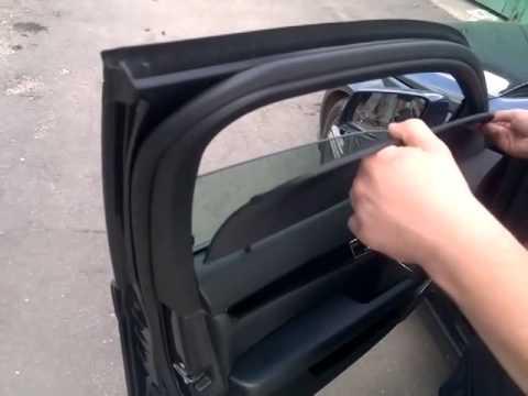 Крепление шторки в машину