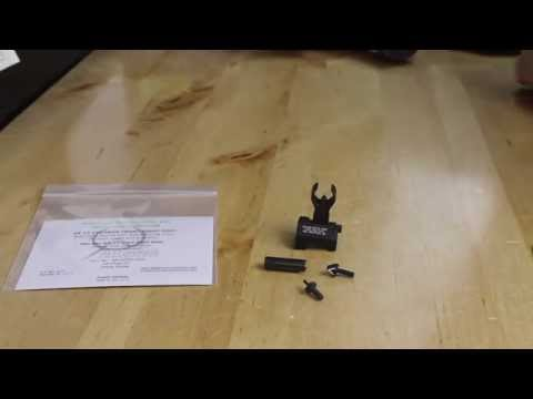 Installing a Blitzkrieg Front Sight Post Into a Troy HK Sight