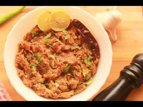 Baingan Ka Bharta   Roasted Eggplant    Baingan Ka Chokha   Keto Dish