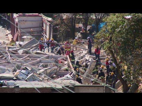 Gas blast at Mexico children's hospital, dozens injured