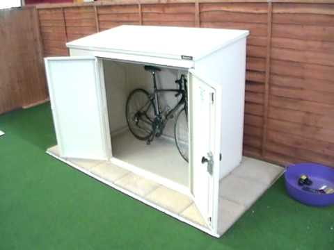 6x3ft Bike Shed - The Addition Bike Storage Unit from Asgard - YouTube