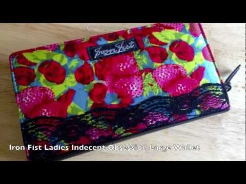 Iron Fist Ladies Indecent Obsession Large Wallet At The Alternative Store