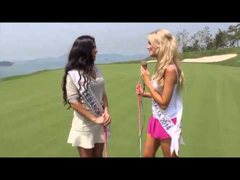 Miss Asia Pacific 2014   Golf Photo Shoot