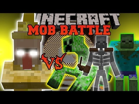 LIGHTNING WITCH VS MUTANT ZOMBIE, MUTANT CREEPER, & MUTANT SKELETON - Minecraft Mob Battles - Mods