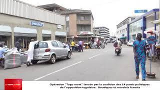 Opération « Togo mort » : Des commerçants ont largement suivi le mot d'ordre