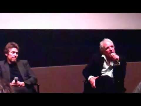 NYFF 14  PASOLINI post screening public Q&A wDefoe and director ABEL FERRARA