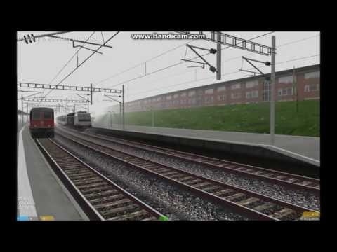 OpenBVE HD EXCLUSIVE: Bombardier TRAXX P140DC Hauling 10 Car SBB Intercity Train