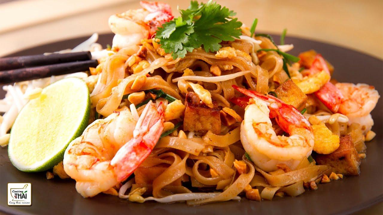 Cocina Tailandesa Pad Thai Fideos Fritos Estilo