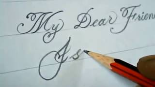 How to Write Good hand writer | Pencil Calligraphy | Mazic Writer