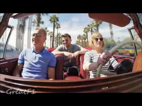 Susie Wolff takes David Coulthard and Steve Jones for a ride in Barcelona. Spanish GP 2016