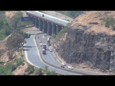 Breathtaking Aerial View Of Mumbai Pune Expressway Captured From Hills Of Khandala, India video