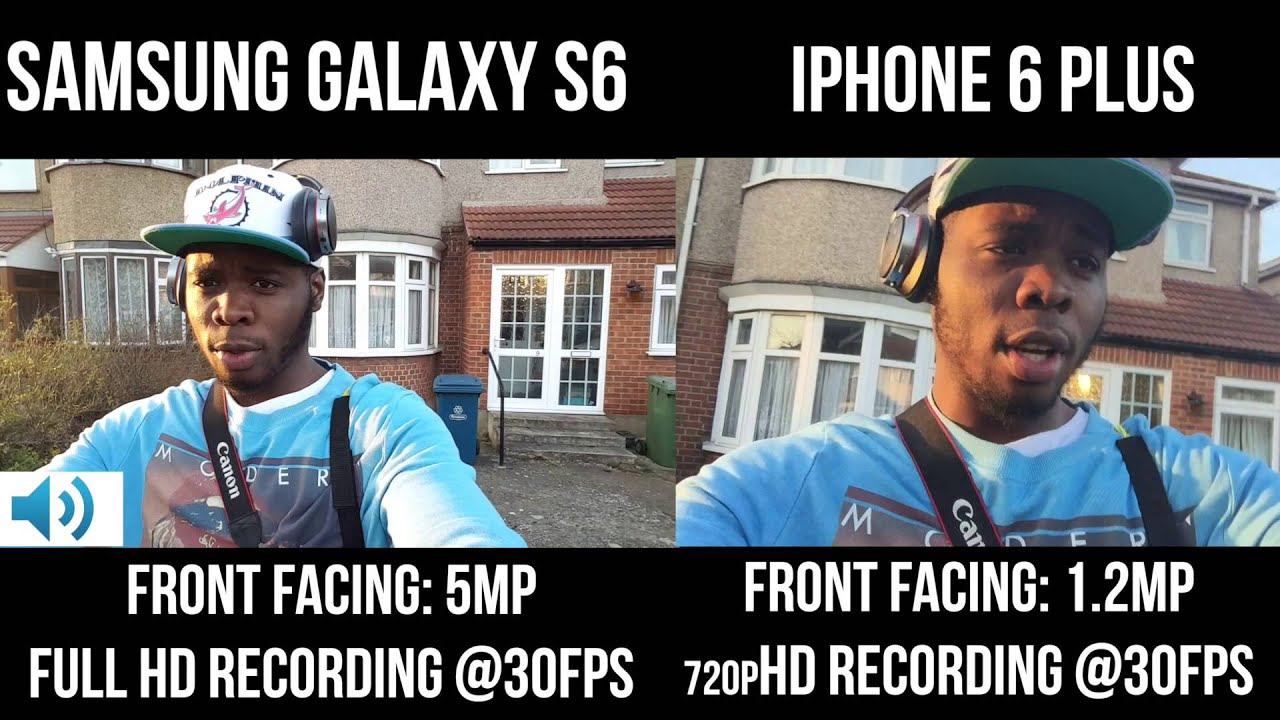Iphone 5s vs Iphone 6 Front Camera vs Iphone 6 Plus Front