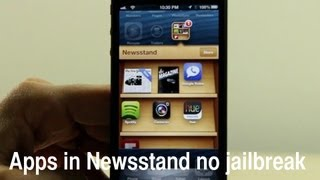 How to place apps in the Newsstand folder without jailbreaking