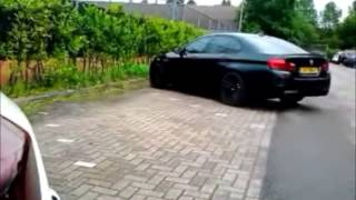 BMW M5 F10 wHamman rims Loud Start Up, revs andamp; Hard Acceleration!
