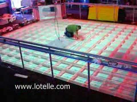 70s Stlye Disco Illuminated Dance Floor Time Lapse